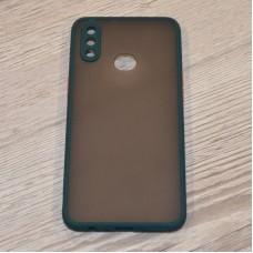 Чехол TOTU c защитным выступом для камеры для Samsung Galaxy A10s / A107 (Зеленый)