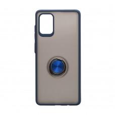 Чехол TOTU с железным кольцом для Samsung Galaxy A71 / A715 (Синий)