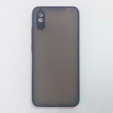 Чехол TOTU c защитным выступом для камеры для XiaoMi Redmi 9A (Черный)