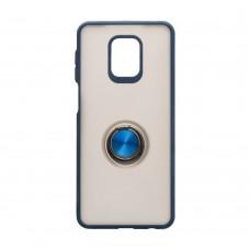 Чехол TOTU с железным кольцом для XiaoMi Redmi Note 9 Pro / Note 9s (Синий)