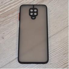 Чехол TOTU c защитным выступом для камеры для XiaoMi Redmi Note 9 Pro / Note 9s (Черный)