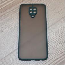 Чехол TOTU c защитным выступом для камеры для XiaoMi Redmi Note 9 Pro / Note 9s (Зеленый)