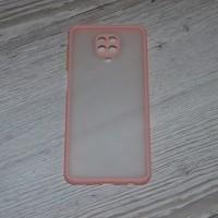 Чехол TOTU c защитным выступом для камеры для XiaoMi Redmi Note 9 Pro / Note 9s (Персиковый)