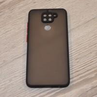 Чехол TOTU c защитным выступом для камеры для XiaoMi Redmi Note 9 (Черный)