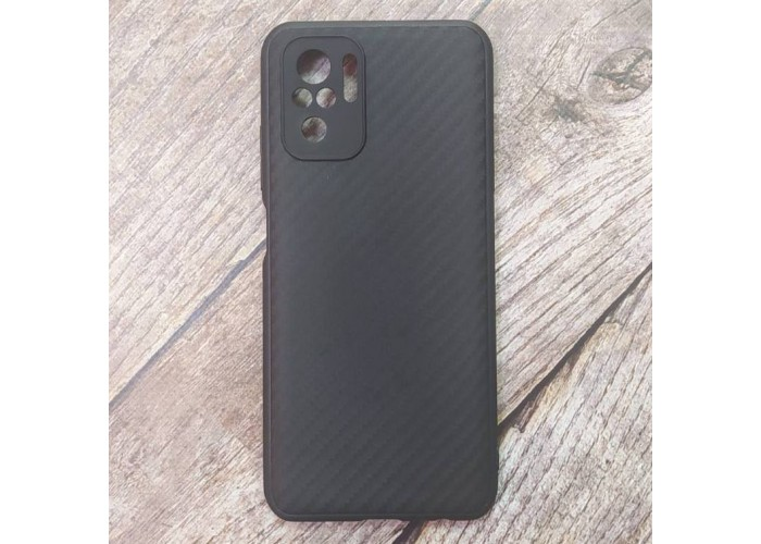 Силиконовый чехол Ultra Thin Carbon для XiaoMi Redmi Note 10 (Черный)
