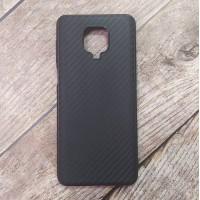 Силиконовый чехол Ultra Thin Carbon для XiaoMi Redmi Note 9 Pro (Черный)