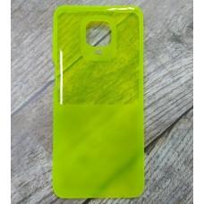 Силиконовый чехол Ultra Thin Neon для XiaoMi Redmi Note 9 Pro (Желтый)