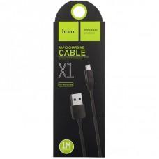 Кабель Hoco X1 Rapid USB - Micro USB, 1м (Черный)