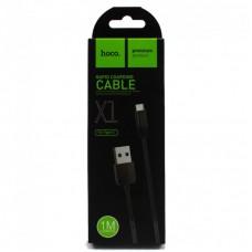 Кабель Hoco X1 Rapid USB - Type-C, 1м (Черный)