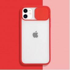 Чехол Camshield Matte Case (Красный) со шторкой для камеры для iPhone 11