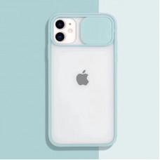 Чехол Camshield Matte Case (Бирюзовый) со шторкой для камеры для iPhone 11