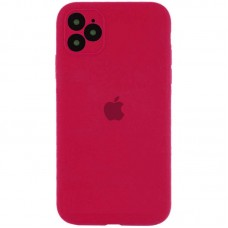 Чехол Apple Silicone Case Full Camera (Rose Red) для iPhone 11 Pro