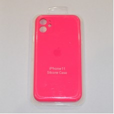 Чехол Apple Silicone Case Full Camera (Hot Pink) для iPhone 11