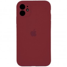 Чехол Apple Silicone Case Full Camera (Marsala) для iPhone 11
