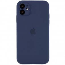 Чехол Apple Silicone Case Full Camera (Midnight Blue) для iPhone 11