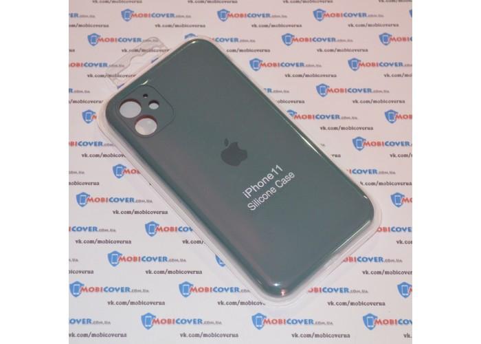Чехол Apple Silicone Case Full Camera (Pine Green) для iPhone 11
