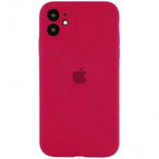 Чехол Apple Silicone Case Full Camera (Rose Red) для iPhone 11