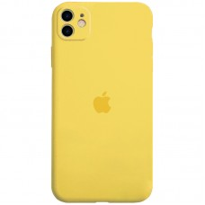 Чехол Apple Silicone Case Full Camera (Yellow) для iPhone 11
