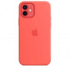Чехол Apple Silicone Case Full (Coral) для iPhone 12/12 Pro