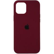 Чехол Apple Silicone Case Full (Marsala) для iPhone 12/12 Pro