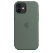 Чехол Apple Silicone Case Full (Pine Green) для iPhone 12/12 Pro