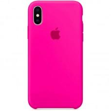 Чехол Apple Silicone Case (Hot Pink) для iPhone X/XS