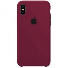 Чехол Apple Silicone Case (Marsala) для iPhone X/XS