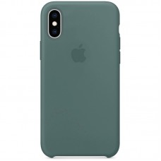 Чехол Apple Silicone Case (Pine Green) для iPhone X/XS