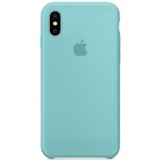 Чехол Apple Silicone Case (Sea Blue) для iPhone X/XS