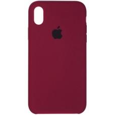 Чехол Apple Silicone Case (Marsala) для iPhone XR