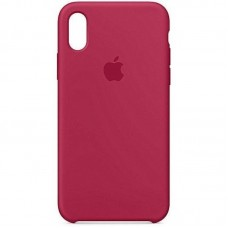 Чехол Apple Silicone Case (Rose red) для iPhone XR