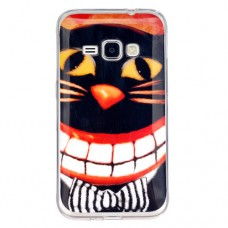 Чехол-бампер для Samsung Galaxy J1 / J120 (Кот в бабочке) (2016)