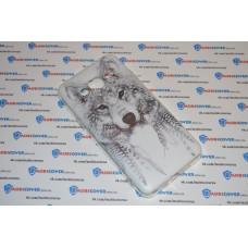 Чехол-бампер для Samsung Galaxy J3 / J320 (Волк вождь) (2016)