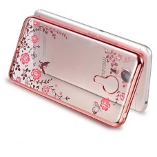 Чехол-бампер для Meizu M5 (Цветочные узоры)