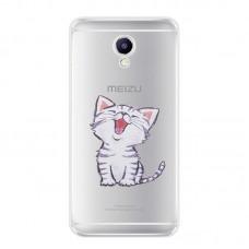 Чехол-бампер для Meizu M5 Note (Котенок)