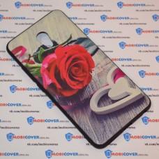 Чехол для Meizu M5 Note (Красная роза)