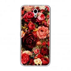 Чехол-бампер для Meizu M5 (Розы)