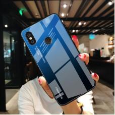 Стеклянный чехол для XiaoMi Mi A2 Lite (Синий)