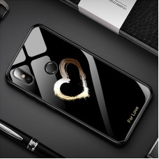 Стеклянный чехол для XiaoMi Mi A2 Lite (For love) black