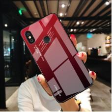 Стеклянный чехол для XiaoMi Mi A2 Lite (Красный)