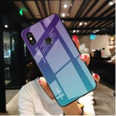 Стеклянный чехол для XiaoMi Mi A2 Lite (Фиолетовый)
