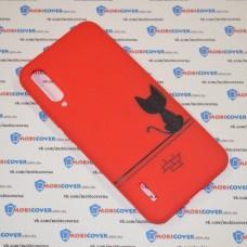 Чехол для XiaoMi Mi A3 (Черный кот)