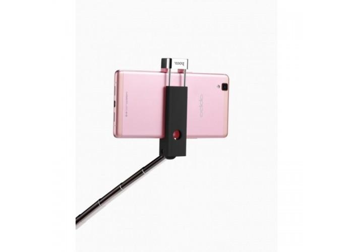 Монопод Hoco K4 Beauty Wireless + Bluetooth кнопка (Черный)