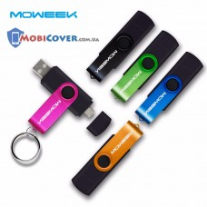 Флеш-накопитель Moweek USB - Micro USB (OTG) 32GB (Синий)