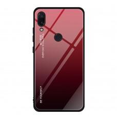 Стеклянный чехол для Huawei P Smart 2019 (Красный)