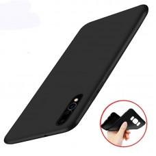 Чехол для Huawei P Smart Plus (Черный силикон)