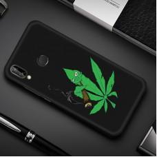 Чехол для Huawei P Smart Plus (Smoke Marijuana)
