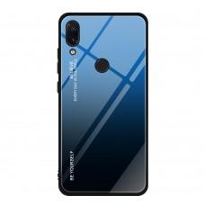 Стеклянный чехол для Huawei P Smart Plus (Синий)