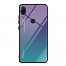 Стеклянный чехол для Huawei P Smart Plus (Фиолетовый)