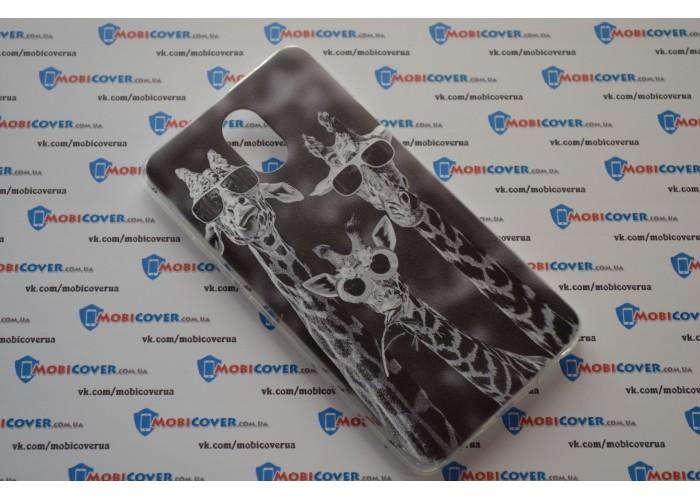 Чехол-бампер для Lenovo Vibe P1m (Жирафы)